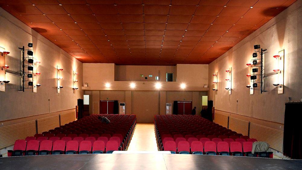 Πλήρης ανακαίνιση του Δημοτικού Θεάτρου Μάνδρας, με χορηγία του ομίλου ΕΛΠΕ