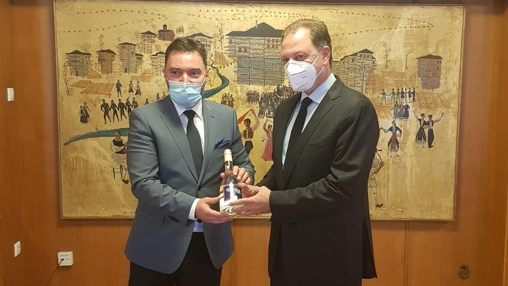 Την ενίσχυση της συνεργασίας Ελλάδας-Βοσνίας στον αγροδιατροφικό τομέα συζήτησαν Λιβανός - Κοσάρατς