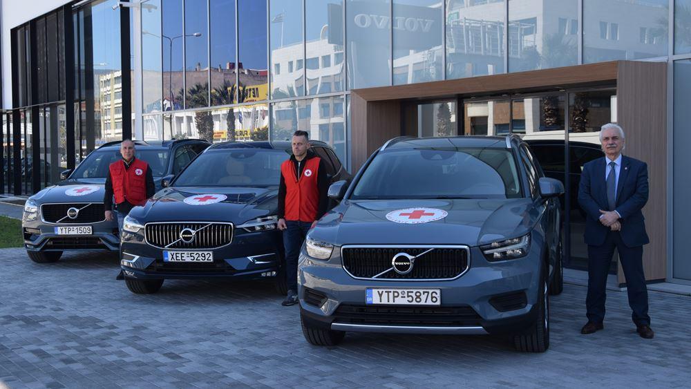 Η Volvo Car Hellas δίνει πέντε αυτοκίνητα στον Ελληνικό Ερυθρό Σταυρό