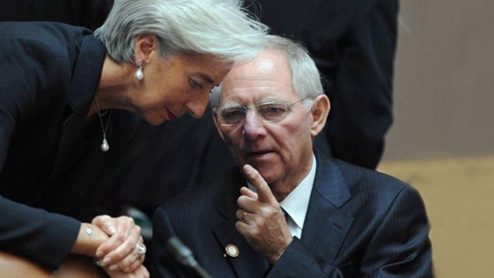 """Ο Σόιμπλε ζητεί από τη Λαγκάρντ να σεβαστεί την """"περιορισμένη εντολή"""" της ΕΚΤ"""