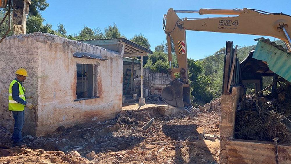 Έναρξη κατεδαφίσεων αυθαιρέτων στη Μάνδρα