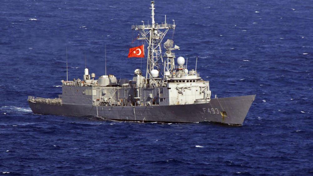 """Τουρκική φρεγάτα """"απείλησε"""" γαλλικό ερευνητικό πλοίο νότια της Κρήτης"""