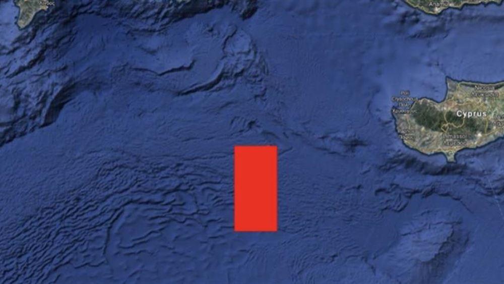 """Η Τουρκία ξεκινά θαλάσσιες έρευνες στο """"τριεθνές"""" Ελλάδας-Κύπρου-Αιγύπτου"""