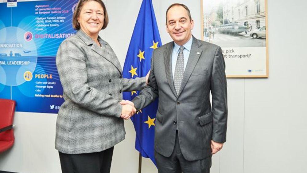 Για επίκαιρα ναυτιλιακά θέματα συζήτησαν Γ. Πλακιωτάκης και Ευρωπαία επίτροπος Μεταφορών