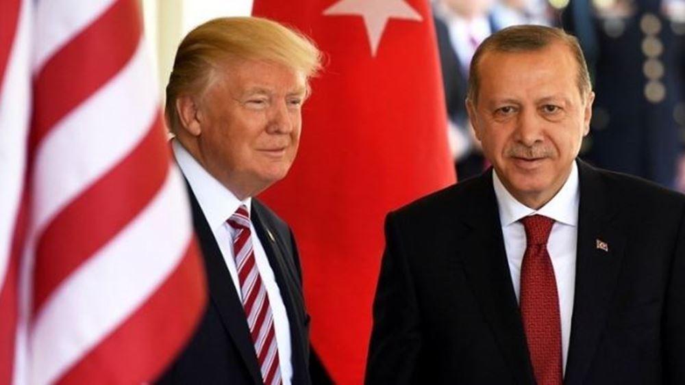 Πρόσκληση Ερντογάν σε Τραμπ να επισκεφθεί την Τουρκία εντός του 2019