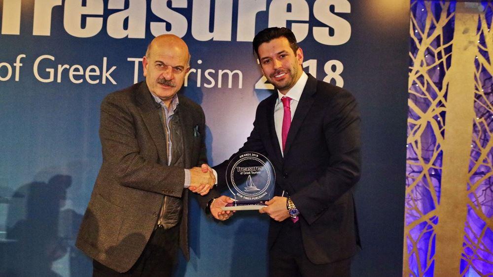 """Με το βραβείο """"Treasures of the Greek Tourism"""" για το 2018 τιμήθηκε η Maroulis Travel"""