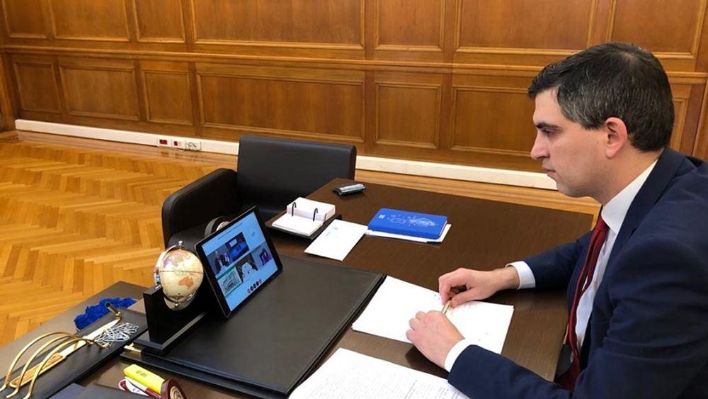 Ο Χρ. Δήμας μετείχε στην τηλεδιάσκεψη Υπ. Έρευνας και Καινοτομίας της ΕΕ με φόντο την μάχη κατά του κορονοϊού