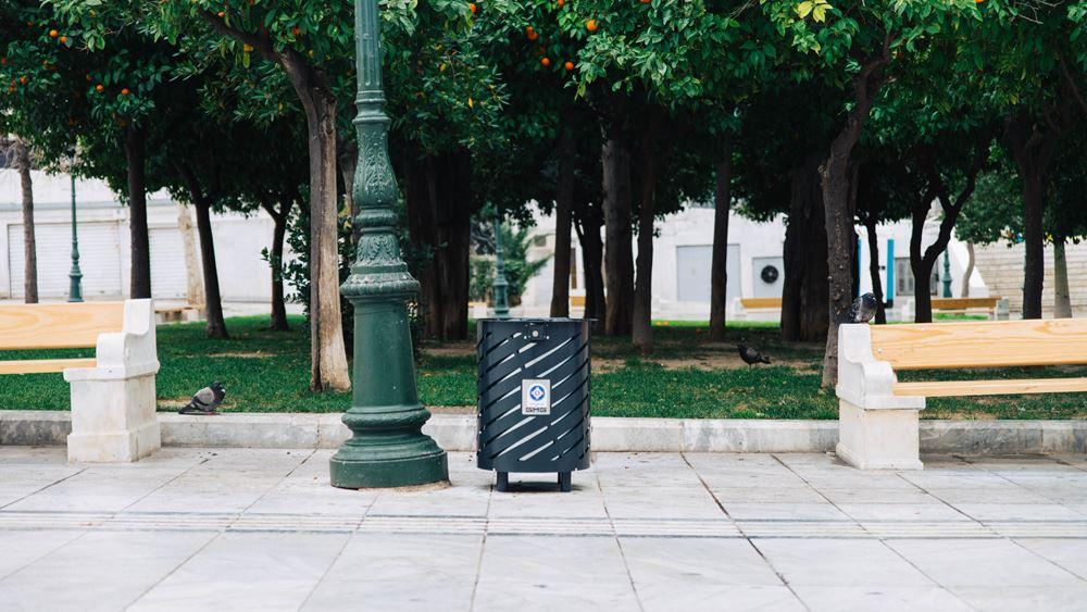 Δήμος Αθηναίων: Καινούργια καλάθια απορριμμάτων στους δρόμους της Αθήνας