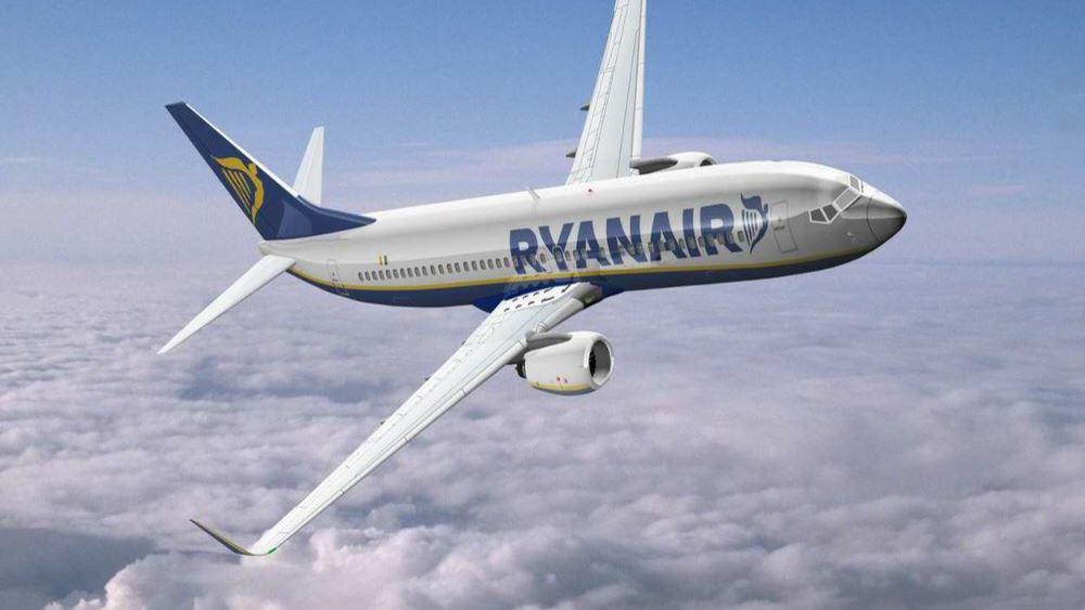 Ryanair: Μεγάλη άνοδος των κρατήσεων Βρετανών και Ιρλανδών για διακοπές στην Ελλάδα