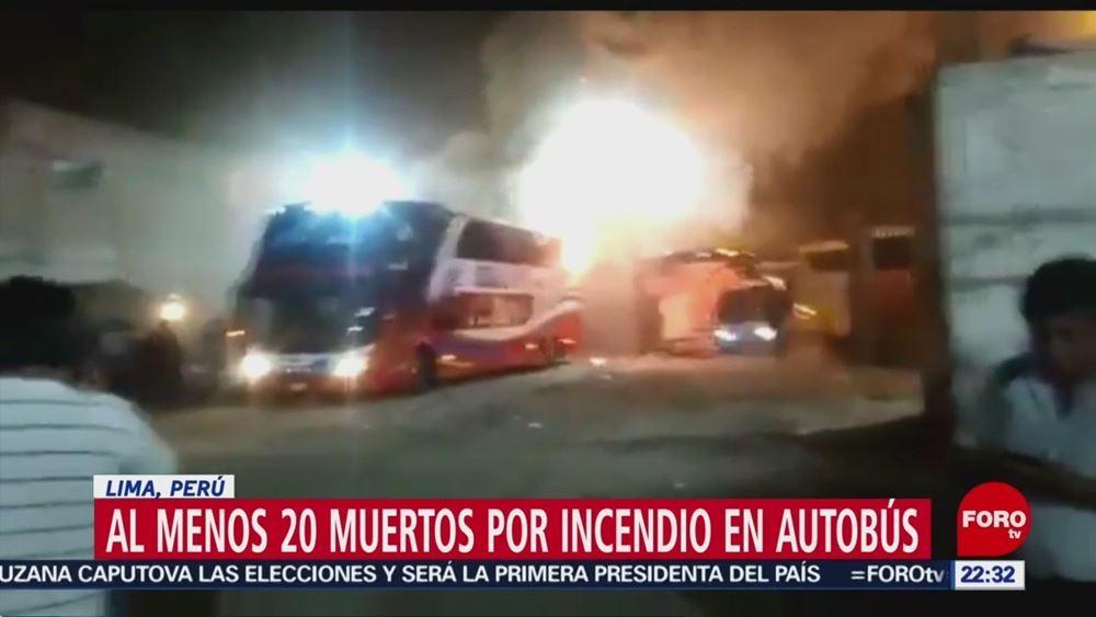 Περού: Τουλάχιστον 20 άνθρωποι έχασαν τη ζωή τους όταν λεωφορείο έπιασε φωτιά