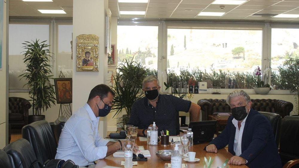 Συνάντηση Πατούλη - Βούρου για την υπογειοποίηση της Πατριάρχου Κωνσταντίνου και το γήπεδο της ΑΕΚ