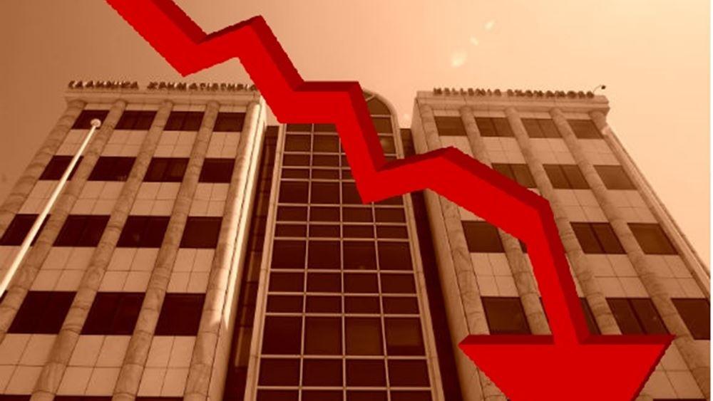 Κραχ - Η μεγαλύτερη πτώση στο Χ.Α. από το 1987