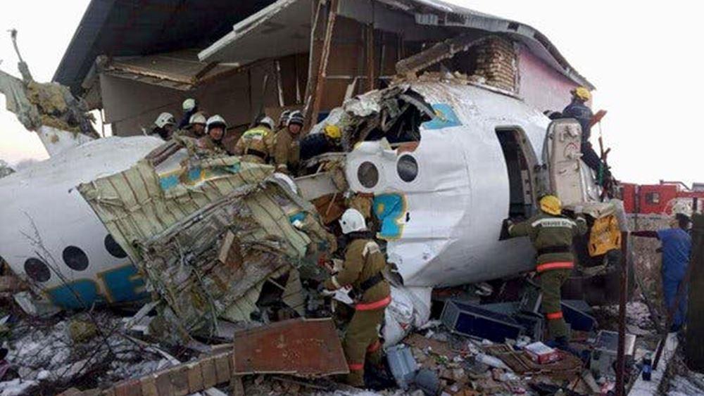 Καζακστάν: Ημέρα εθνικού πένθους η αυριανή μετά το πολύνεκρο αεροπορικό δυστύχημα