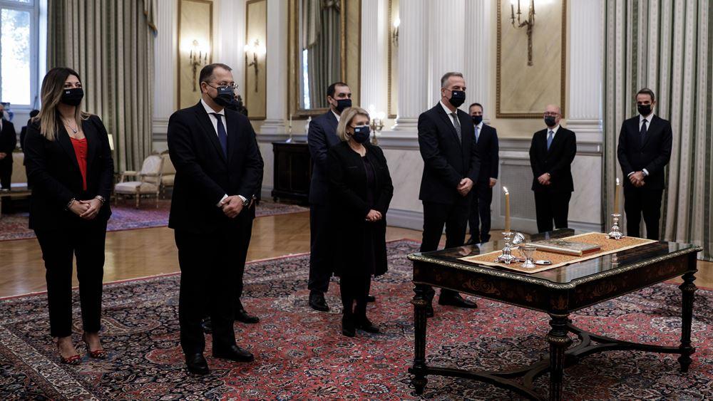 Ορκίζεται η δεύτερη ομάδα των νέων μελών της κυβέρνησης