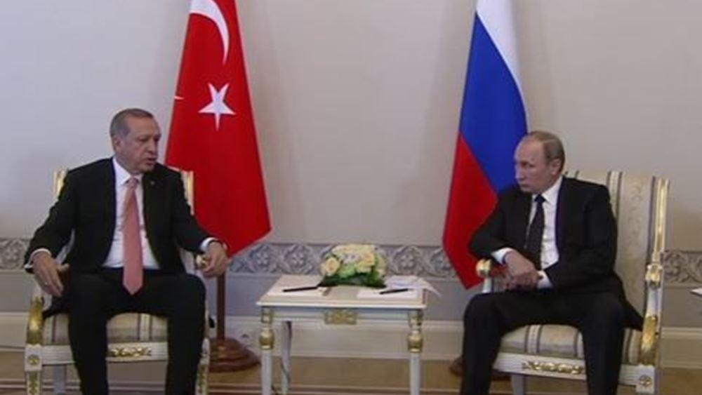 Συνάντηση Πούτιν - Ερντογάν: Επιτακτικές οι συνομιλίες, τόνισε ο Ρώσος πρόεδρος