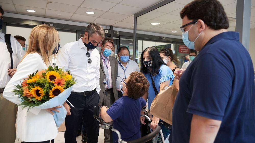Νέο μήνυμα Μητσοτάκη από Χάλκη για την τήρηση των μέτρων προστασίας απο την πανδημία