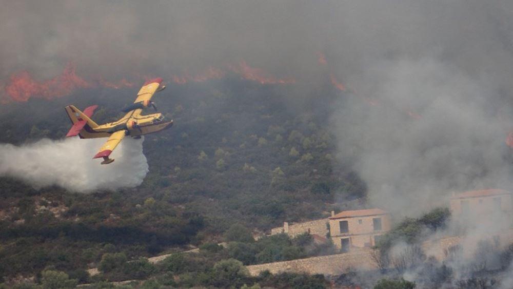 Ζάκυνθος: Νέα πυρκαγιά στη θέση Ασκός στις Βολίμες