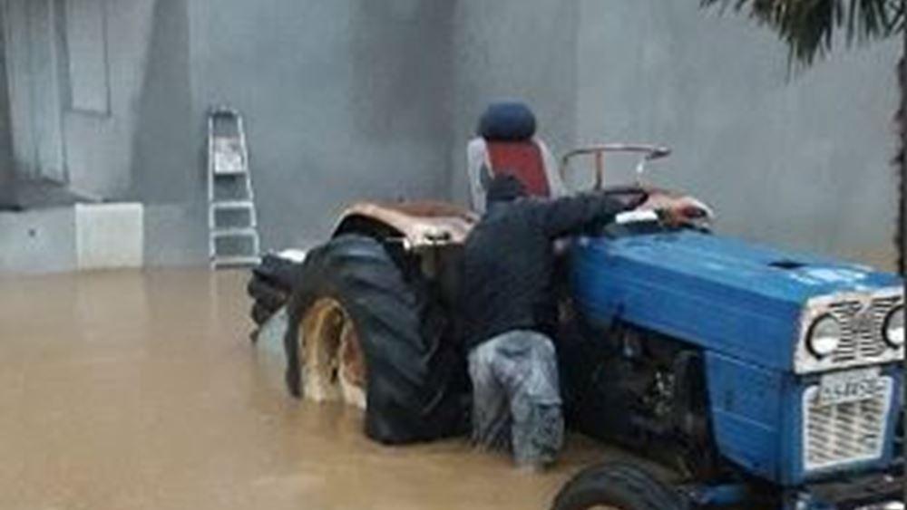 Πλημμύρισε η Ροδόπη από τη συνεχή βροχόπτωση