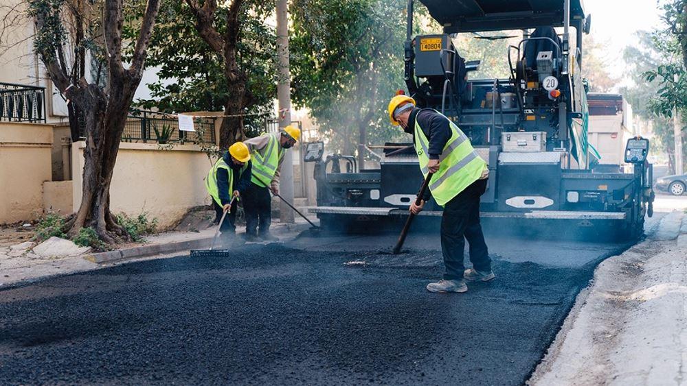 Ασφαλτοστρώσεις στο 50% του οδικού δικτύου της Αθήνας