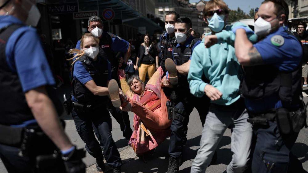 Ελβετία: Η αστυνομία διέλυσε διαδήλωση χωρίς άδεια των αρχών ενόψει της Ημέρας της Γυναίκας
