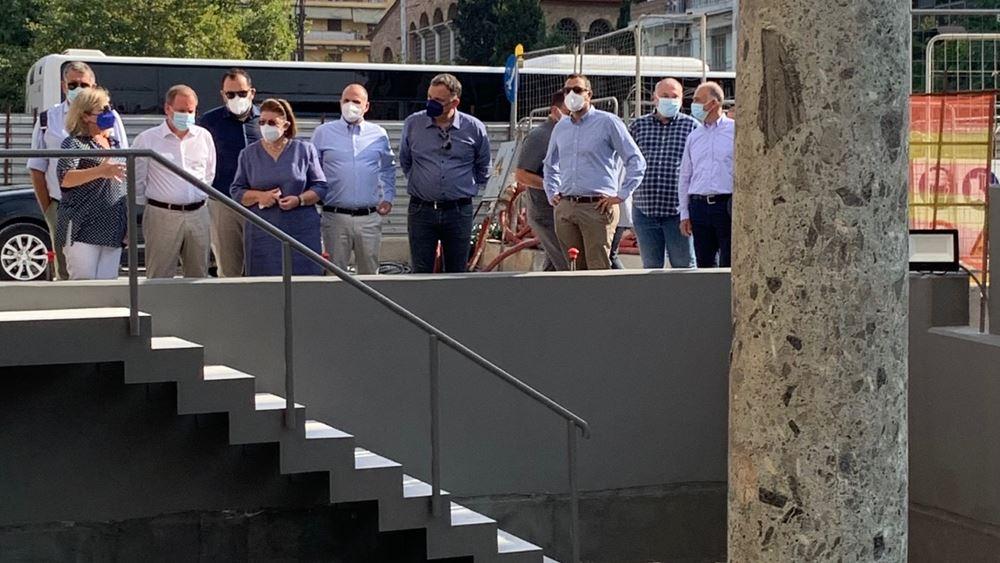 Θεσσαλονίκη: Μενδώνη και Καραμανλής πραγματοποίησαν αυτοψία στον σταθμό μετρό Αγίας Σοφίας
