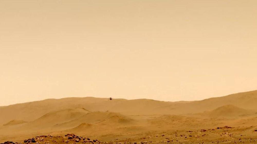 """Την πέμπτη του πτήση στον πλανήτη Άρη πραγματοποίησε το """"Ingenuity"""" της NASA"""