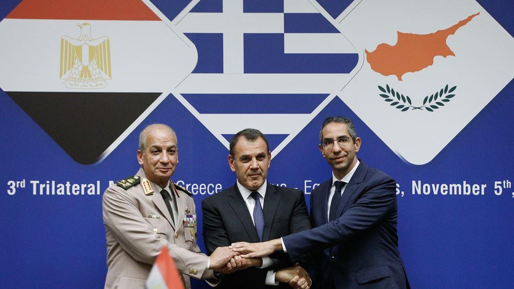 Παναγιωτόπουλος: Ελλάδα, Κύπρος και Αίγυπτος θα διασφαλίσουν ειρήνη, ασφάλεια και σταθερότητα