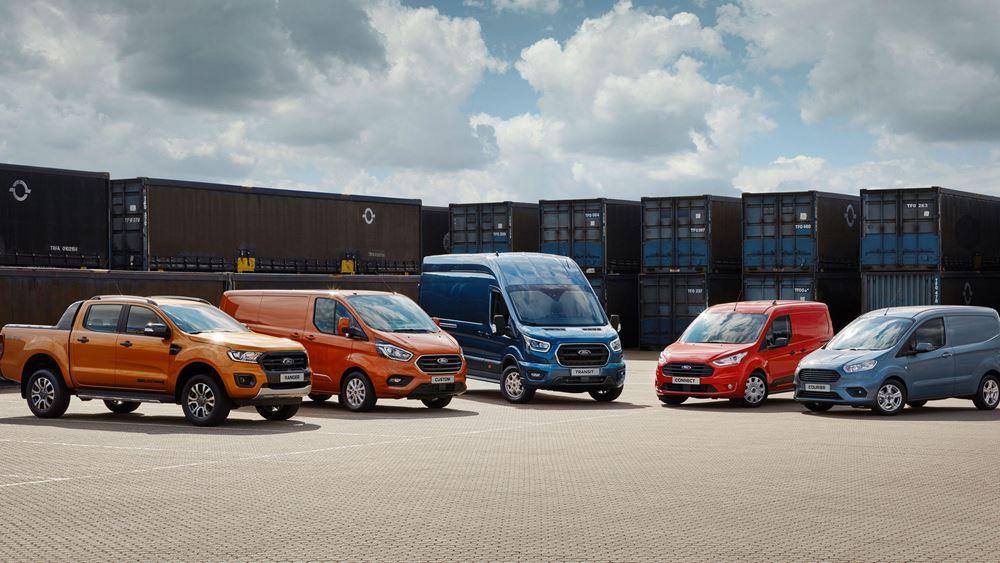 H Ford κατακτά την πρώτη θέση των πωλήσεων LCV το 2020