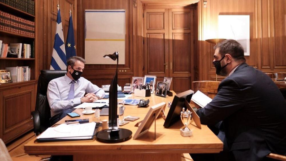 Το πρόεδρο της ΟΝΝΕΔ δέχθηκε στο Μαξίμου ο Κ. Μητσοτάκης