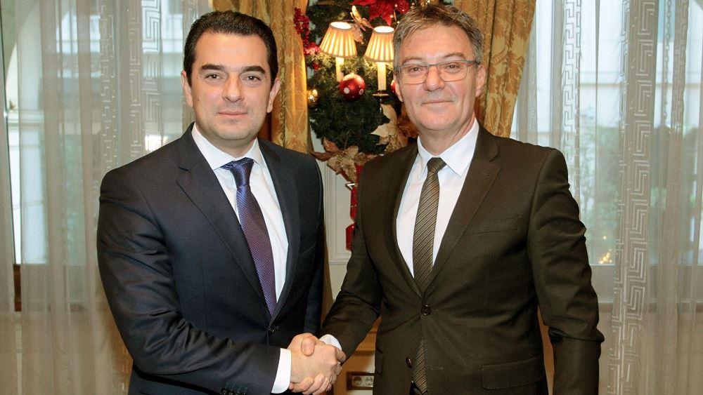 Ενίσχυση της συνεργασίας Ελλάδας-Σερβίας στον πρωτογενή τομέα συζήτησαν ο Σκρέκας - Μαχμούτοβιτς