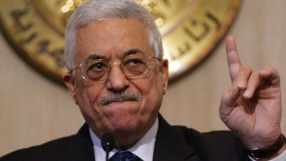 Αμπάς: Άκυρες οι συμφωνίες με Ισραήλ-ΗΠΑ, αν το Ισραήλ προσαρτήσει τμήματα της Δυτικής Όχθης