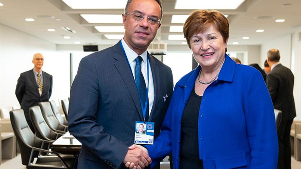 Ολοκληρώθηκε η συνάντηση Σταϊκούρα - Γκεοργκίεβα