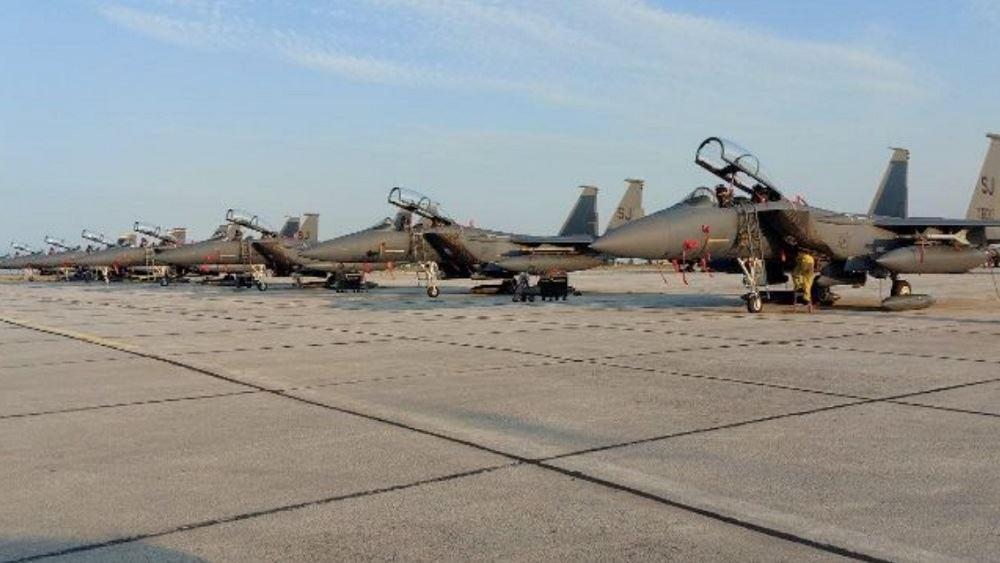 Μεταστάθμευση μαχητικών F-15 των ΗΠΑ στην 110 Πτέρυγα Μάχης στη Λάρισα