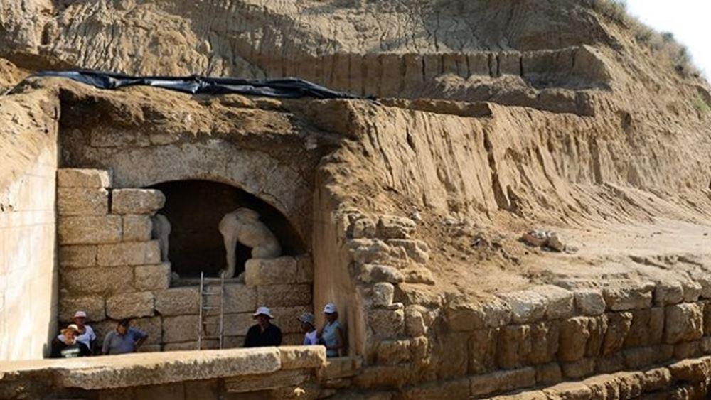 """ΚΑΣ: """"Πράσινο φως"""" στην αποκατάσταση του μνημείου Τύμβου Καστά στην Αμφίπολη"""