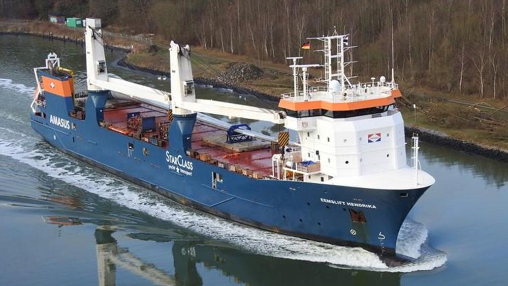 Ολλανδικό φορτηγό πλοίο πλέει ακυβέρνητο στην θάλασσα της Νορβηγίας