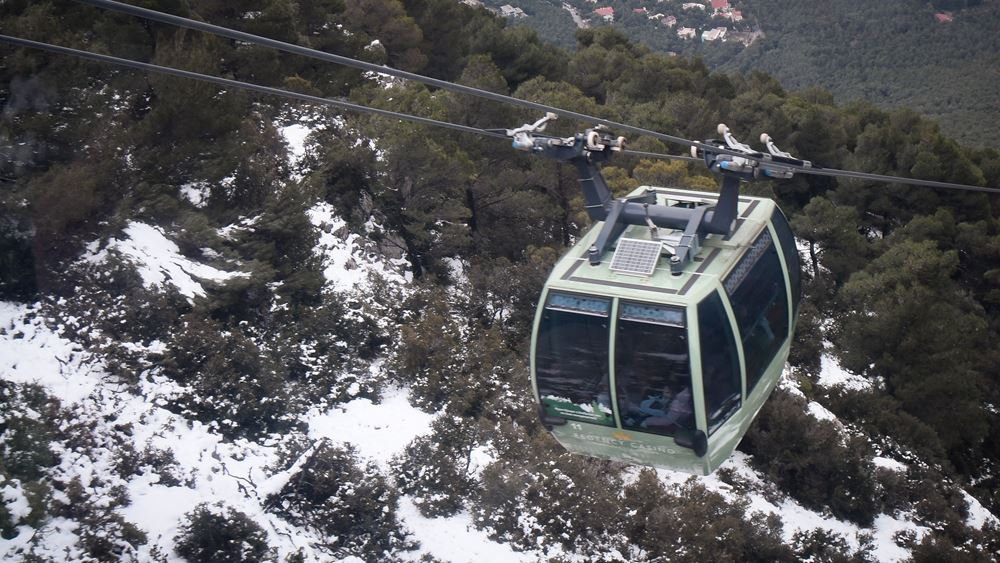 Διακοπή της κυκλοφορίας στη λεωφόρο Πάρνηθας λόγω χιονόπτωσης