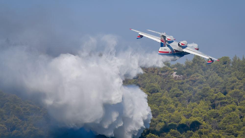 φωτιά 10 χιλιομέτρων στα Βίλια