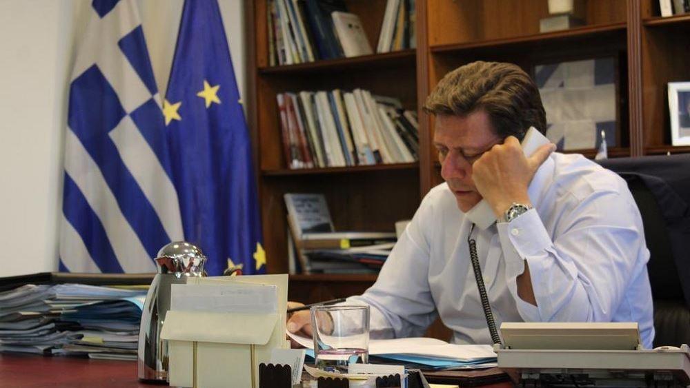 Τηλεφωνική επικοινωνία Μ. Βαρβιτσιώτη με τον νέο υφυπουργό Εξωτερικών της Λιθουανίας