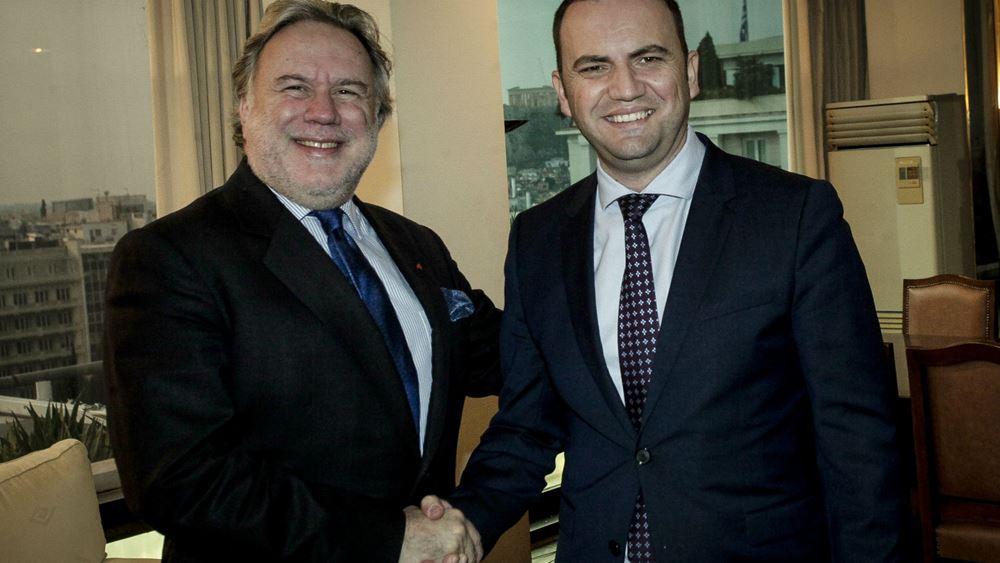 Συνάντηση του αναπληρωτή ΥΠΕΞ Γ. Κατρούγκαλου με τον αντιπρόεδρο της κυβέρνησης της πΓΔΜ