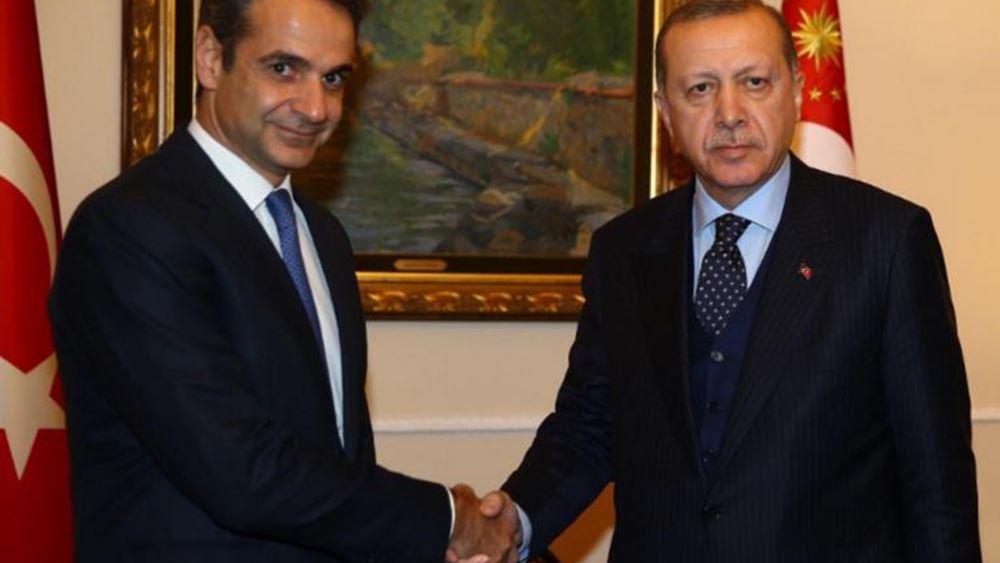 Ο Ερντογάν απέναντι στην κυβέρνηση Μητσοτάκη