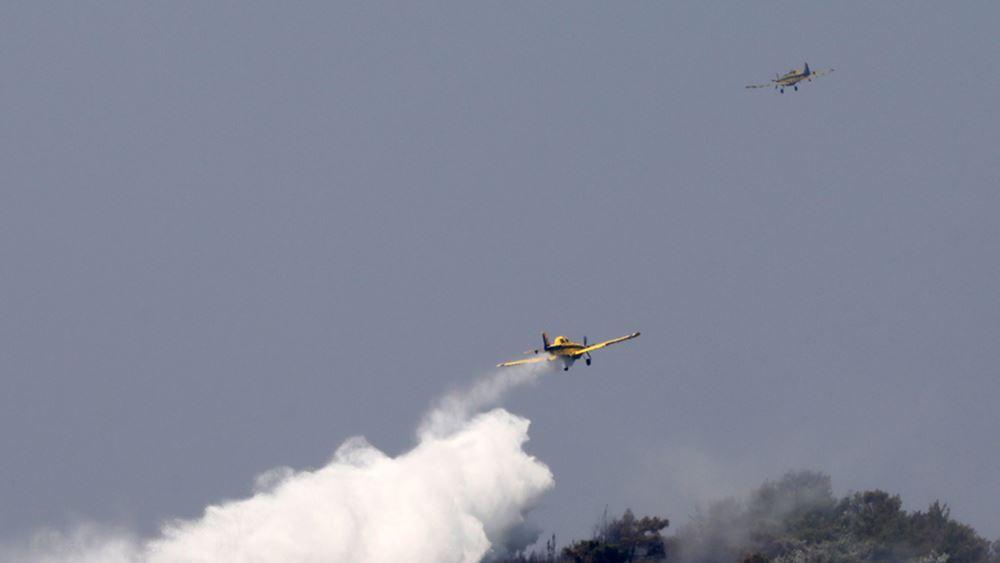 Κόρινθος: Μαίνεται η πυρκαγιά στο Καλέντζι