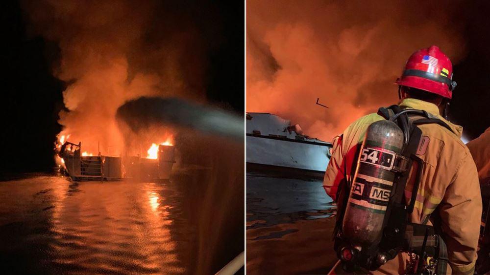 Βυθίστηκε το σκάφος που είχε πιάσει φωτιά στην Καλιφόρνια: Οι αγνοούμενοι πιθανώς κοιμόντουσαν εκείνη την ώρα