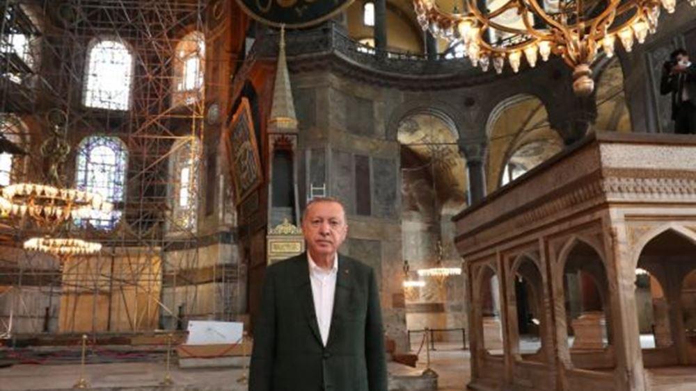 Με εντολή Ερντογάν, ανοικτή όλο το 24ωρο η Αγία Σοφία