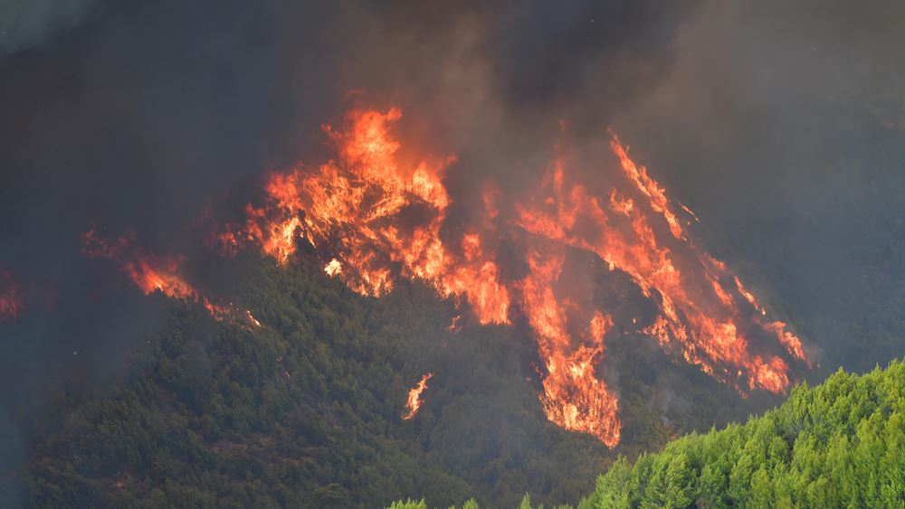 Σε εξέλιξη η φωτιά σε Ηλεία και Λακωνία