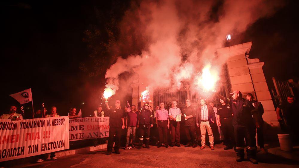Πανελλαδική διαμαρτυρία ένστολων με αφορμή τα εγκαίνια της 84ης ΔΕΘ