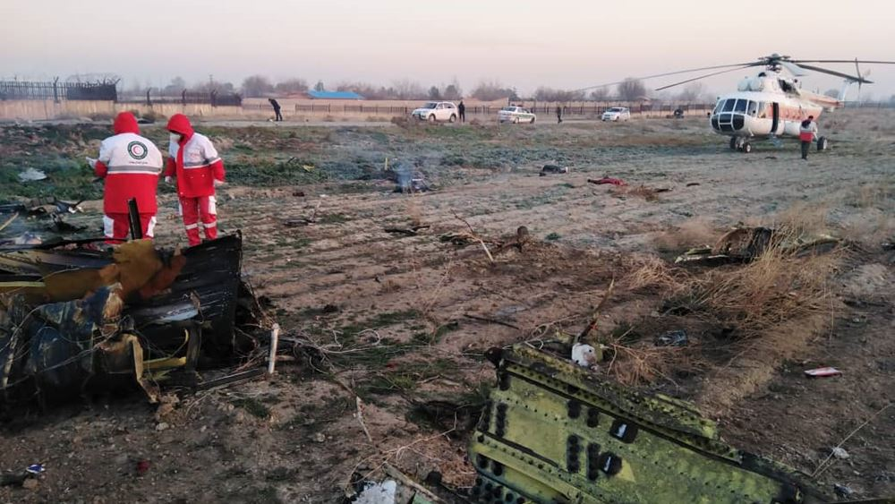 """Το Κίεβο ζητά """"άνευ όρων υποστήριξη"""" από τον ΟΗΕ στην έρευνα για το μοιραίο Boeing 737"""