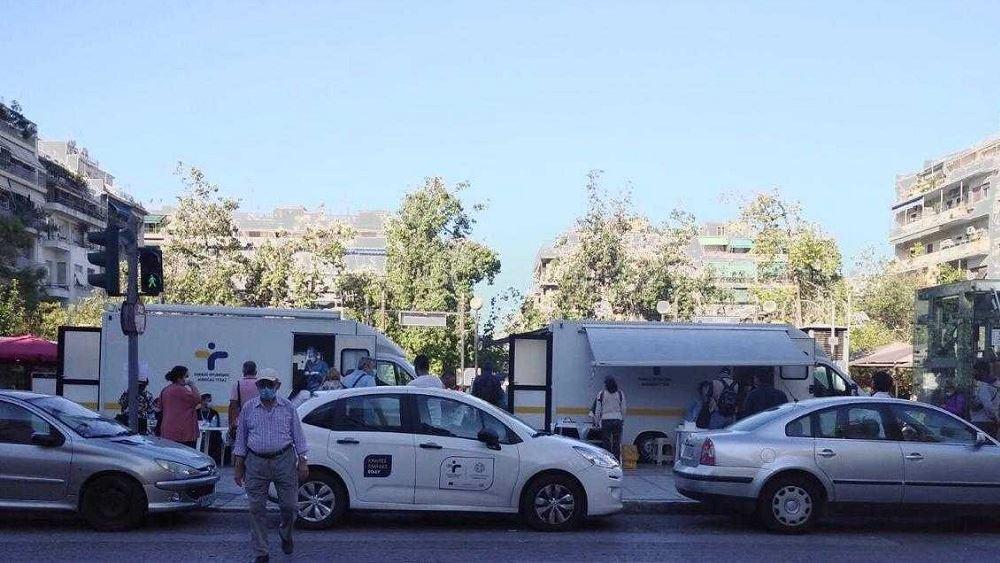 Δωρεάν rapid τεστ στην πλατεία Βικτωρίας πραγματοποίησε σήμερα ο ΕΟΔΥ