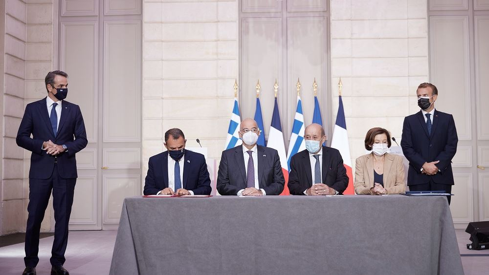 Υπογραφη αμυντικης συμφωνιας Ελλαδας Γαλλιας