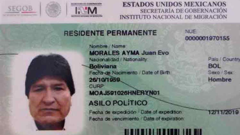 Ο Έβο Μοράλες έλαβε επίσημα πολιτικό άσυλο και κάρτα μετανάστη στο Μεξικό