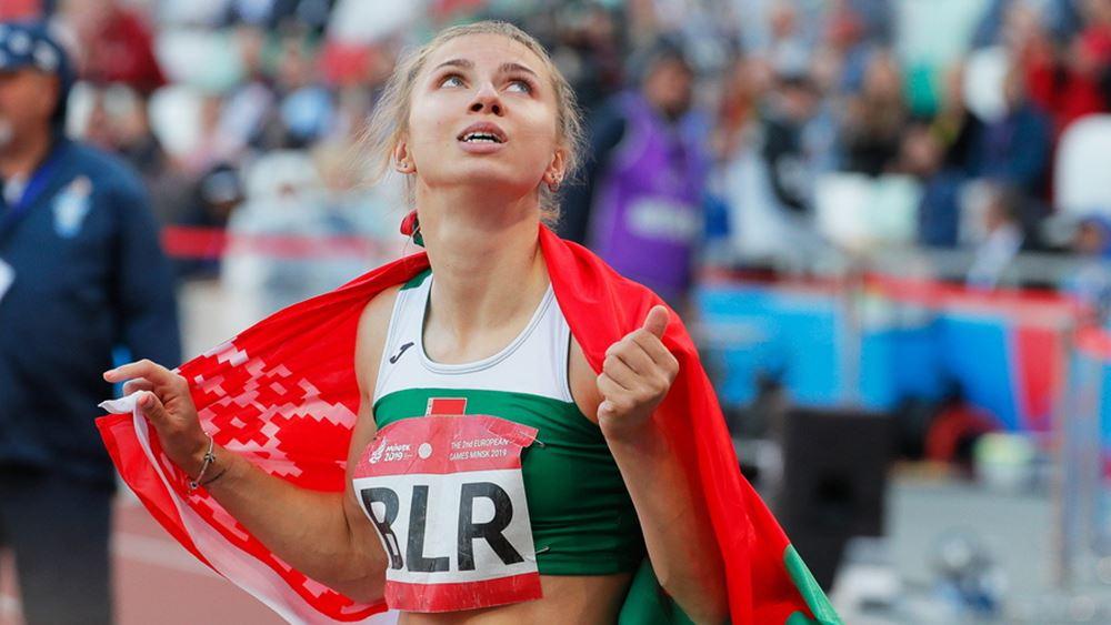 """Η Λευκορωσίδα σπρίντερ Κρ. Τσιμανούσκαϊα ζήτησε """"ανθρωπιστική βίζα"""" από την Πολωνία"""